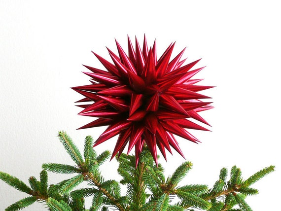 new christmas tree topper handmade polish star christmas