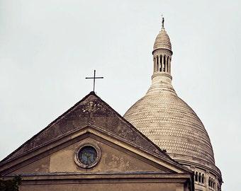 France travel photography - Sacré Coeur Basilica - 10x8 art print - cool gift for francophiles paris architecture Montmartre