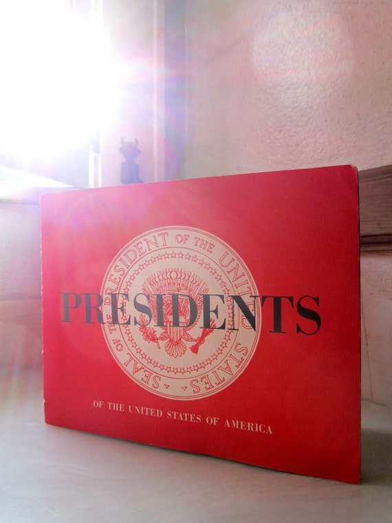 Vintage Lithograph Book Presidents