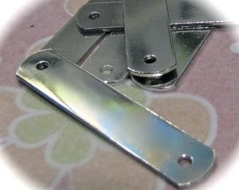 "5 - ID Tags - 1/2 x 1.5"" Inches - 18 Gauge - 2 Holes - PURE Tumbled Food Safe Aluminum"