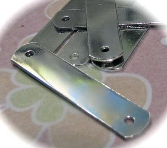 "5 Blanks ID Tags - 1/2 x 1.5"" Inches - 18 Gauge - 2 Holes - PURE Tumbled Food Safe Aluminum"