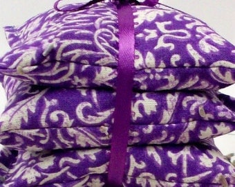 Lavender Sachets - Purple Floral Damask Home and Living