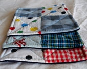 Funky Pot Holders from Vintage Quilt Squares