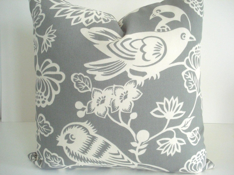 BOTH SIDES Bird Motif Duralee Decorative PillowDesigner