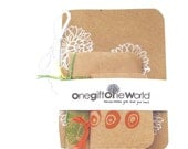 Notebook Pocket Size Note and Sketch-Book Set of Three Sizes, white flowers
