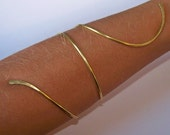 Gold Armlet - LOWER or UPPER ARM Armband - Arm Band - Upper Arm Bracelet - Brass - Bronze - Copper - German Silver - Upper Arm Jewelry