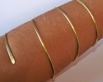 Gold Armlet - Arm Jewelry - UPPER or LOWER Armband - Upper Arm Jewelry Arm Cuff - Armlet - Bronze - Copper - Brass - German Silver