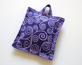 Lavender Sachet with hanger - Purple Swirls