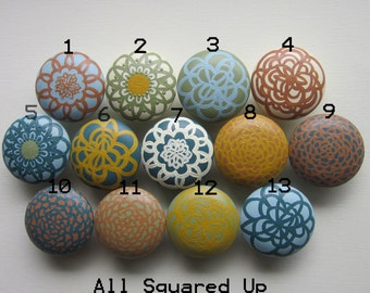 "Set of 4 Large 2"" Drawer Knobs for Home Decor-Collection 2-Mix 'N' Match-you choose which designs"