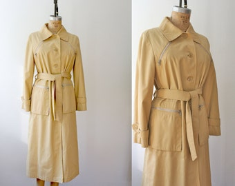 vintage trench coat / 70s trench coat / Butterscotch Hall Coat
