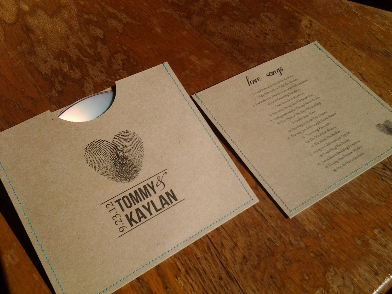 Personalized Cd Sleeve Wedding Favor ANY COLOR Pack Of 300