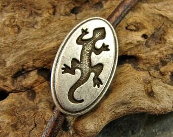 Gecko - Unique  Metal Shank Button - 3 Pieces - Perfect For Leather Wrap Bracelets - B16