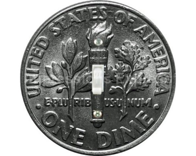 Dime Coin Single Toggle Switch Plate Cover