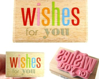 Wishes for you - rubber stamp