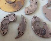 Vintage metal pocket Watch plates   - Steampunk - Scrapbooking r55