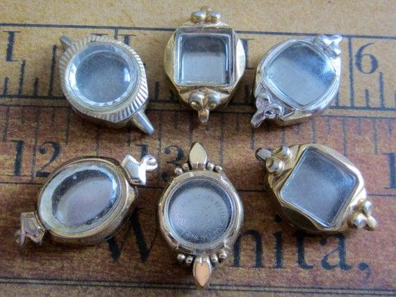 Vintage  Watch parts - Cases -  Steampunk - Scrapbooking  H72
