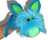 Furry Monster Sock Puppet Halloween toy