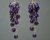 Purple Amethyst Sterling Silver Cluster Earrings February Birthstone Countenance Jewelry