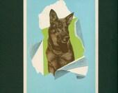 Vintage Classic Rin-Tin-Tin German Shepard Dog Children Story Print