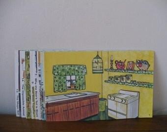 Vintage School Booklets set of 8