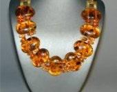 SALE ITEM.  Vintage Tortie Lucite Necklace
