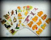 Assorted Lot of vintage Stickers  - 6 sheets - 1970-1980 - Eureka Brandywine art