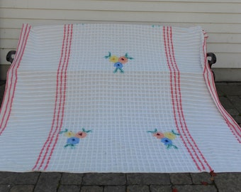"1950's, 94""x109"", chenille full or queen size bedspread"