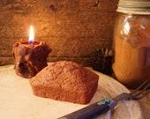 Homemade Bread Loaf Scented Beeswax Melt, Primitive Kitchen Decor, Farmhouse Kitchen Decor, Primitive Beeswax Bread Wickless Candle Wax Melt