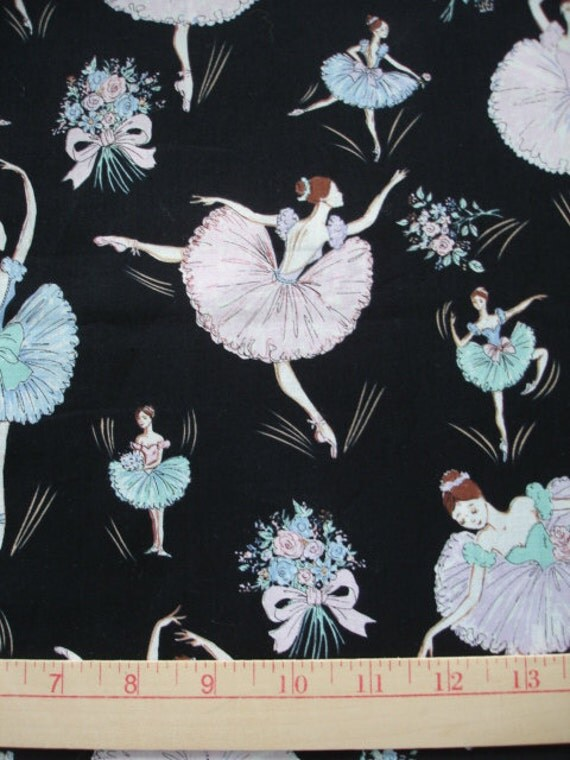 RESERVED Marilu Ballerina Fabric 3 yards (L-22)