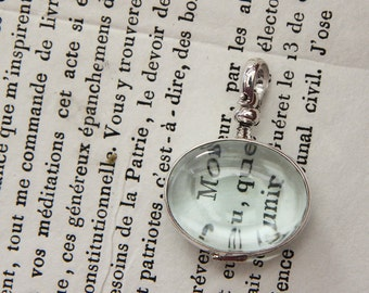 Sterling Silver Glass Locket Double Sided