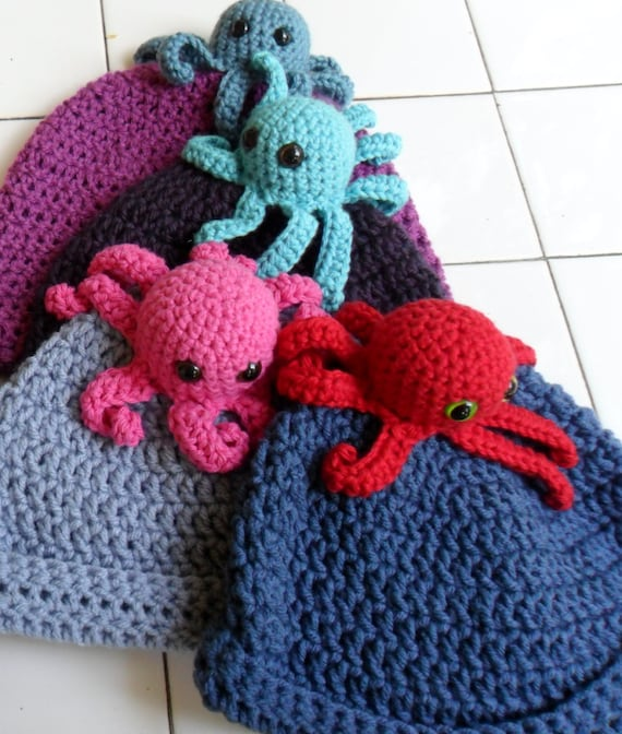 Crochet Pattern- Little Octopus Hat- PDF file