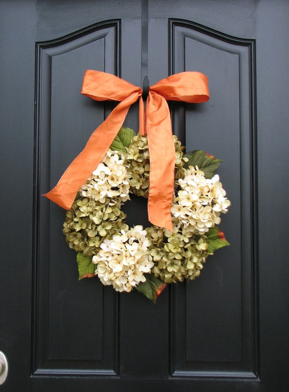 Hydrangea Wreath - Fall Hydrangeas, Wreaths, Hydrangea Wreath, Wreaths for All Seasons, Autumn Decorations