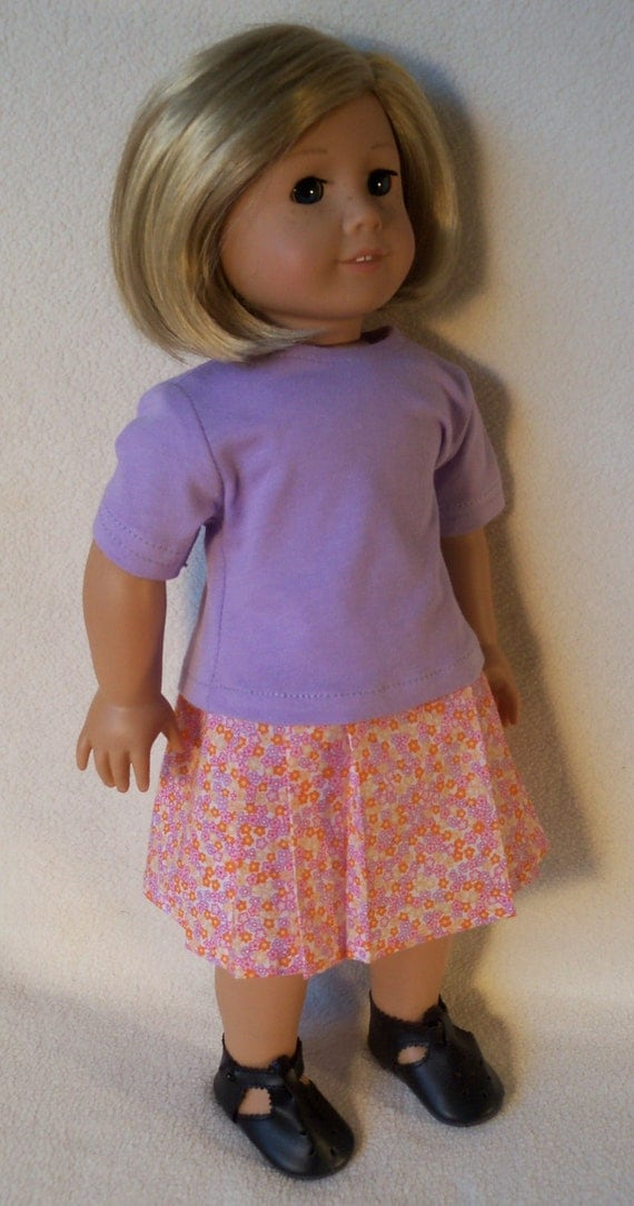 1934-American Girl Doll Kit Kittredge Outfit  Shirt and Top with Shoes