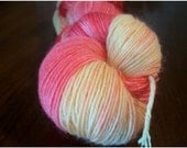 Strawberry Lemonade - 400 yards hand dyed wool/nylon sock yarn