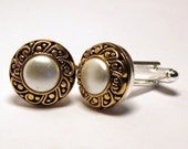 Classic Gold and Pearl Wedding Cufflinks