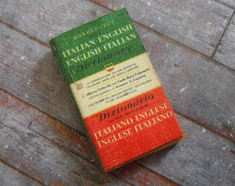 Miniature Book --- Italian Dictionary