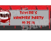 VAMPIRE BITE Halloween Party Water bottle Label Wrappers Party Favors