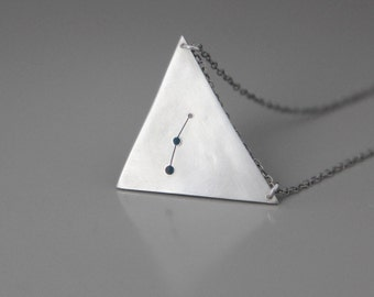 Secrets of the Pyramid Necklace- Custom Constellation and Zodiac Design or personalized words.