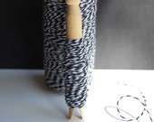 10 Yards Charcoal Black Bakers Twine on a Clothespin -- Ready to Ship