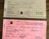 vintage office  ... 2 Canadian WAR RATION BOOKS grp 2  ephemera  ...
