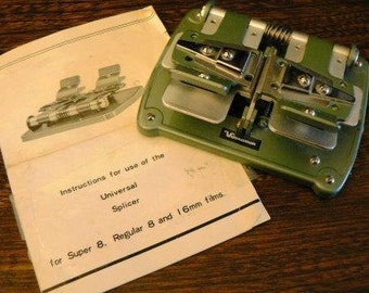 vintage photo supply ... SPLICER UNIVERSAL for SUPER 8 reg 8 and 16mm darkroom supply  ...