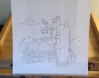 How Do You Do - Original Drawing