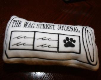 Wag Street Journal Dog Toy