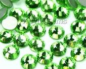 Flat Back Rhinestone Crystal Non-Hot Fix SS6/2mm, SS8/2.4mm, SS10/2.8mm, SS12/3mm, SS16/4mm - 72pcs -  Peridot - Pick Your Size