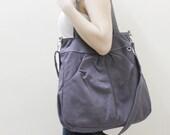 New Year SALE - 40% OFF Hoodie Max in Gray / Shoulder Bag / Tote / Purse / Handbag / Diaper Bag / Large / Women / For her