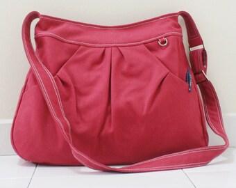 Back To School SALE - 40% OFF Hoodie in Red / Market Bag / Sling bag / Shoulder Bag / Tote / Purse / Handbag / Hip bag / Women / For her