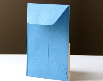 10 Open End Baby Envelopes in Lake (blue) .  2.25 x 3.5