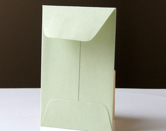 10 Open End Baby Envelopes in Sage (green) .  2.25 x 3.5