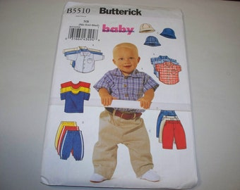 New Butterick Baby Boy Clothes Pattern, B5510 (NB) (Free US Shipping)