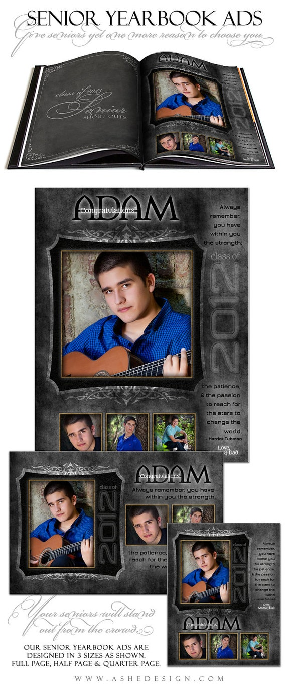 senior yearbook ad sets for photographers tattooed by ashedesign. Black Bedroom Furniture Sets. Home Design Ideas